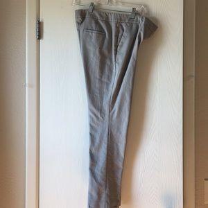 Basic grey straight leg slacks (great for work)